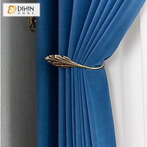 DIHINHOME Home Textile European Curtain Copy of DIHIN HOME European Luxury Velvet Purple Curtains,Blackout Grommet Window Curtain for Living Room ,52x63-inch,1 Panel
