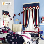 DIHINHOME Home Textile European Curtain DIHIN HOME  British Style Embroidered Valance ,Blackout Curtains Grommet Window Curtain for Living Room ,52x84-inch,1 Panel