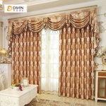 DIHINHOME Home Textile European Curtain DIHIN HOME Elegant Embroidered Valance ,Blackout Curtains Grommet Window Curtain for Living Room ,52x84-inch,1 Panel