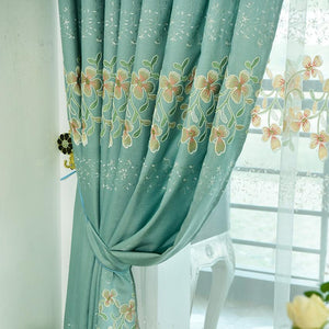Valance And Blackout Curtain Sheer Window Curtain For Living