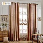 DIHINHOME Home Textile European Curtain DIHIN HOME Elegant Solid Brown,Blackout Curtains Grommet Window Curtain for Living Room ,52x84-inch,1 Panel