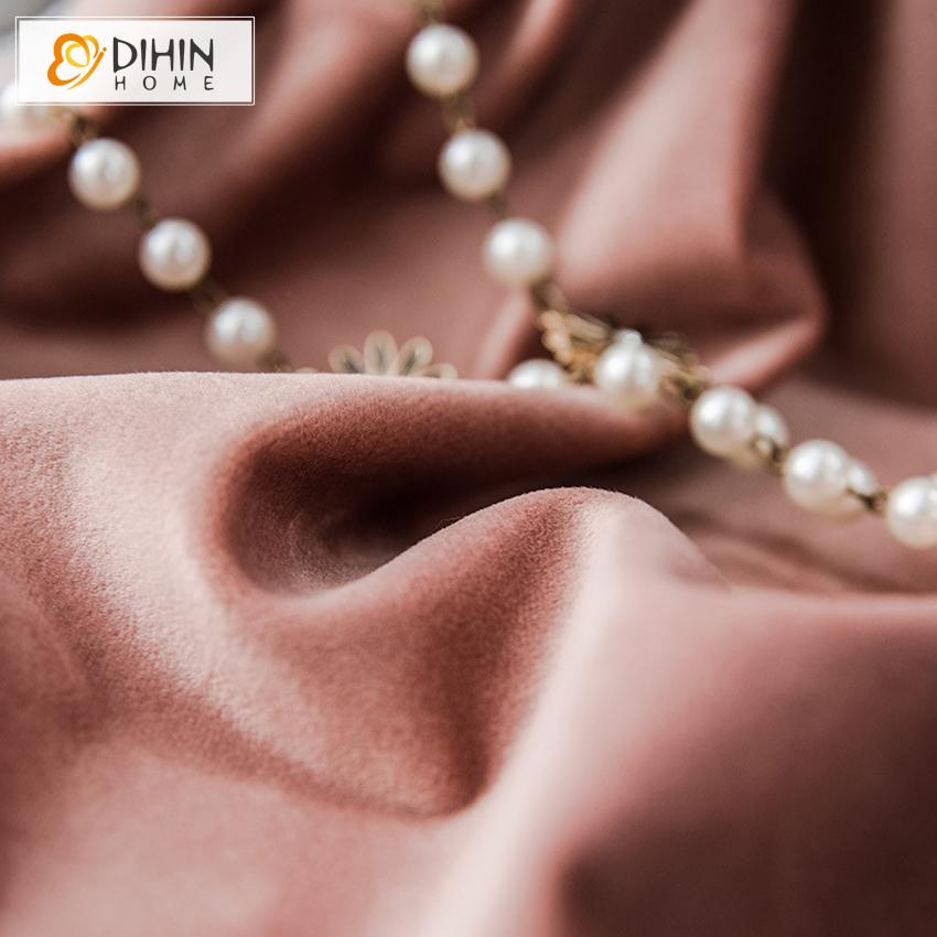 DIHINHOME Home Textile European Curtain Blackout Curtain / Grommet / as we talked in wechat DIHIN HOME European High Quality Luxury Embroidered Curtain,Blackout Curtains Grommet Window Curtain for Living Room