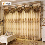 DIHINHOME Home Textile European Curtain DIHIN HOME European Luxury Embroidered Valance ,Blackout Curtains Grommet Window Curtain for Living Room ,52x84-inch,1 Panel