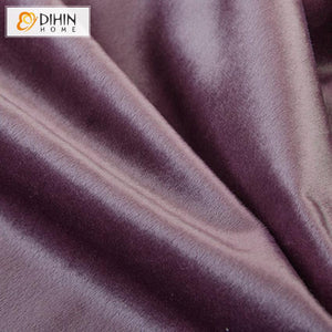 DIHINHOME Home Textile European Curtain DIHIN HOME European Luxury High Quality Purple Color Curtains ,Blackout Grommet Window Curtain for Living Room ,52x63-inch,1 Panel