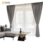 DIHINHOME Home Textile European Curtain DIHIN HOME European Luxury Silver Grey Jacquard,Blackout Grommet Window Curtain for Living Room ,52x63-inch,1 Panel