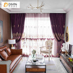 DIHINHOME Home Textile European Curtain DIHIN HOME European Purple Color Customized Valance ,Blackout Curtains Grommet Window Curtain for Living Room ,52x84-inch,1 Panel