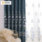 DIHINHOME Home Textile European Curtain DIHIN HOME Garden Embroidered Curtain,Blackout Curtains Grommet Window Curtain for Living Room ,52x90-inch,1 Panel