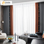 DIHINHOME Home Textile European Curtain DIHIN HOME High-end Embroidered Polo,Blackout Curtains Grommet Window Curtain for Living Room ,52x84-inch,1 Panel