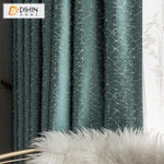 DIHINHOME Home Textile European Curtain DIHIN HOME Modern Retro Abstract Lines High Precision Jacquard,Blackout Grommet Window Curtain for Living Room ,52x63-inch,1 Panel