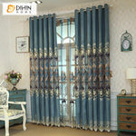 DIHINHOME Home Textile European Curtain DIHIN HOME New Arrival Embroidered Curtain ,Blackout Curtains Grommet Window Curtain for Living Room ,52x84-inch,1 Panel