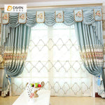 DIHINHOME Home Textile European Curtain DIHIN HOME Top High Quality Embroidered Valance ,Blackout Curtains Grommet Window Curtain for Living Room ,52x84-inch,1 Panel