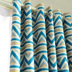 DIHINHOME Home Textile European Curtain Modern Striped Blackout Curtains Printed Window Treatment