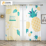 DIHINHOME Home Textile Kid's Curtain Copy of DIHIN HOME 3D Printed Cartoon Pink Flamingos Blackout Curtains,Window Curtains Grommet Curtain For Living Room ,39x102-inch,2 Panels Included
