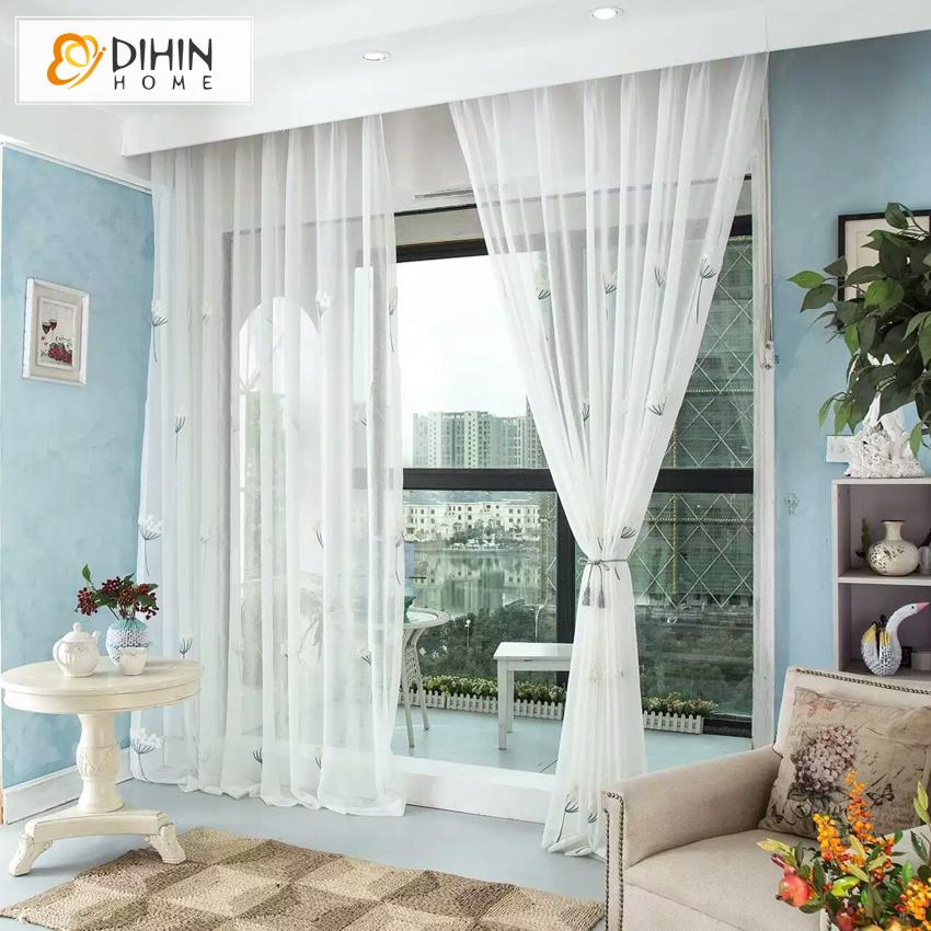 DIHINHOME Home Textile Kid's Curtain Copy of DIHIN HOME Cartoon Children Room Little Chicken Embroidered,Blackout Grommet Window Curtain for Living Room ,52x63-inch,1 Panel