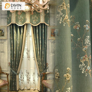 DIHINHOME Home Textile Kid's Curtain DIHIN HOME American Pastoral Style Valance ,Blackout Curtains Grommet Window Curtain for Living Room ,52x84-inch,1 Panel