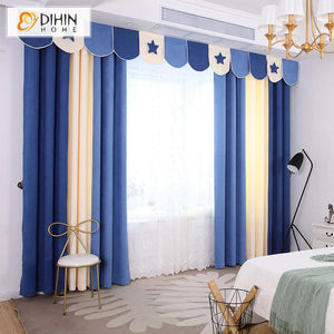 DIHINHOME Home Textile Kid's Curtain DIHIN HOME Cartoon Children Colorful Customized Valance ,Blackout Curtains Grommet Window Curtain for Living Room ,52x84-inch,1 Panel