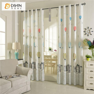 DIHINHOME Home Textile Kid's Curtain DIHIN HOME Cartoon Children Printed Curtains,Blackout Grommet Window Curtain for Living Room ,52x63-inch,1 Panel