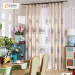 DIHINHOME Home Textile Kid's Curtain DIHIN HOME  Cartoon Fish Printed ,Cotton Linen ,Blackout Grommet Window Curtain for Living Room ,52x63-inch,1 Panel