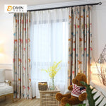 DIHINHOME Home Textile Kid's Curtain DIHIN HOME Cartoon Horse and Tree Printed,Blackout Grommet Window Curtain for Living Room ,52x63-inch,1 Panel