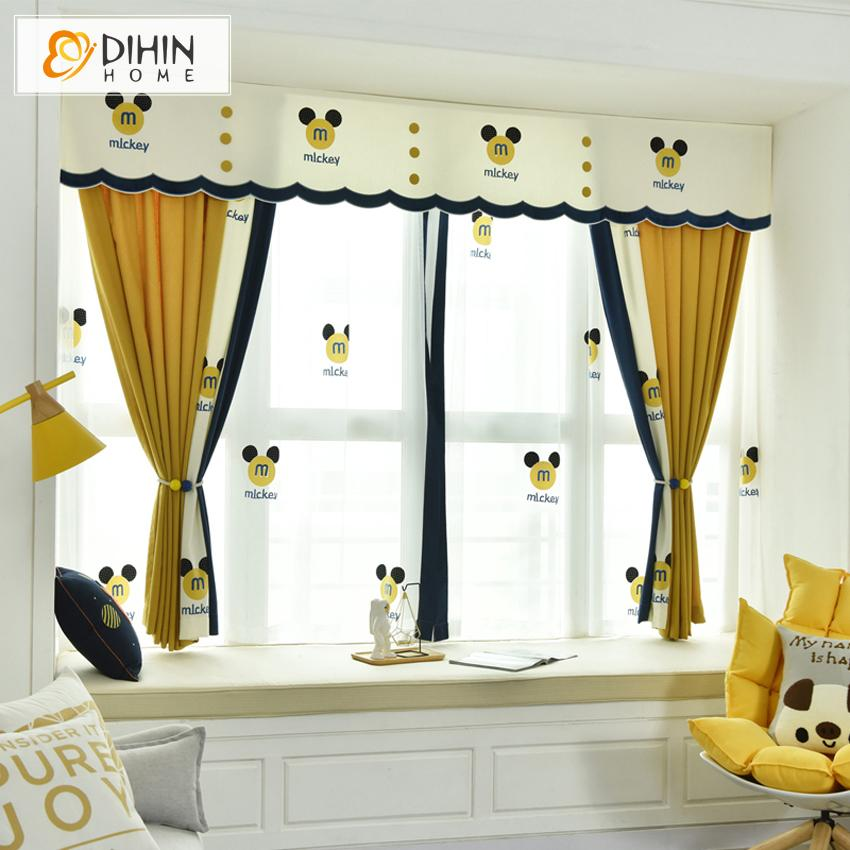 Valance And Blackout Curtain Sheer Window For Living Room Dihinhome Home Textile