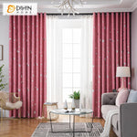 DIHINHOME Home Textile Kid's Curtain DIHIN HOME Cartoon Pink Moon and Star Printed,Blackout Grommet Window Curtain for Living Room ,52x63-inch,1 Panel