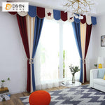 DIHINHOME Home Textile Kid's Curtain DIHIN HOME Cartoon Window Curtain 3 Colors Fashion Valance ,Blackout Curtains Grommet Window Curtain for Living Room ,52x84-inch,1 Panel