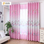 DIHIN HOME Hello Kitty Pink Printed,Blackout Grommet Window Curtain for Living Room ,52x63-inch,1 Panel