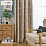 DIHINHOME Home Textile Kid's Curtain DIHIN HOME High-precision Jacquard Feather,Blackout Curtains Grommet Window Curtain for Living Room ,52x84-inch,1 Panel