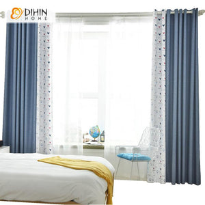 DIHINHOME Home Textile Kid's Curtain DIHIN HOME High Quality Cartoon Mickey Printed,Blackout Grommet Window Curtain for Living Room ,52x63-inch,1 Panel