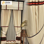 DIHINHOME Home Textile Kid's Curtain DIHIN HOME Modern Fashion Valance ,Blackout Curtains Grommet Window Curtain for Living Room ,52x84-inch,1 Panel