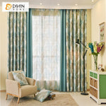 DIHINHOME Home Textile Kid's Curtain DIHIN HOME Tropical Banana Leaves Printed,Blackout Grommet Window Curtain for Living Room ,52x63-inch,1 Panel