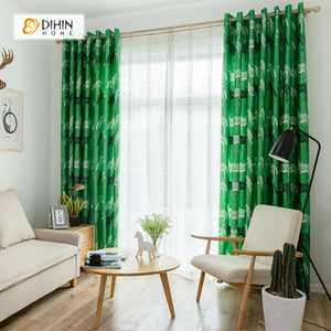 DIHINHOME Home Textile Modern Curtain DIHIN HOME 3D Printed Black and White Zebra Blackout Curtains ,Window Curtains Grommet Curtain For Living Room ,39x102-inch,2 Panels Included