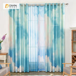 DIHINHOME Home Textile Modern Curtain DIHIN HOME 3D Printed Blue Sky Blackout Curtains ,Window Curtains Grommet Curtain For Living Room ,39x102-inch,2 Panels Included