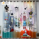 DIHINHOME Home Textile Modern Curtain DIHIN HOME 3D Printed Cartoon Dog and Cat Blackout Curtains ,Window Curtains Grommet Curtain For Living Room ,39x102-inch,2 Panels Included