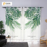 DIHINHOME Home Textile Modern Curtain DIHIN HOME 3D Printed Elegant Botany Blackout Curtains ,Window Curtains Grommet Curtain For Living Room ,39x102-inch,2 Panels Included
