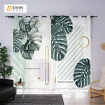 DIHINHOME Home Textile Modern Curtain DIHIN HOME 3D Printed Fascinating Botany Blackout Curtains ,Window Curtains Grommet Curtain For Living Room ,39x102-inch,2 Panels Included