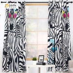 DIHINHOME Home Textile Modern Curtain DIHIN HOME 3D Printed Fashionable Zebra Blackout Curtains ,Window Curtains Grommet Curtain For Living Room ,39x102-inch,2 Panels Included