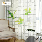 DIHINHOME Home Textile Modern Curtain DIHIN HOME 3D Printed Green Bonsai Blackout Curtains ,Window Curtains Grommet Curtain For Living Room ,39x102-inch,2 Panels Included