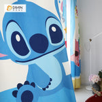 DIHINHOME Home Textile Modern Curtain DIHIN HOME 3D Printed Lilo & Stitch Blackout Curtains ,Window Curtains Grommet Curtain For Living Room ,39x102-inch,2 Panels Included