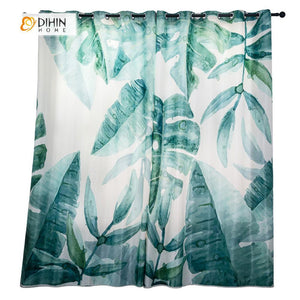 DIHINHOME Home Textile Modern Curtain DIHIN HOME 3D Printed Messy Leaves Blackout Curtains ,Window Curtains Grommet Curtain For Living Room ,39x102-inch,2 Panels Included