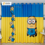 DIHINHOME Home Textile Modern Curtain DIHIN HOME 3D Printed Minions Blackout Curtains ,Window Curtains Grommet Curtain For Living Room ,39x102-inch,2 Panels Included