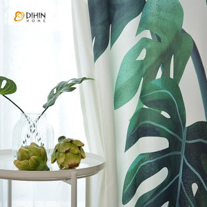 DIHINHOME Home Textile Modern Curtain DIHIN HOME 3D Printed Nature Blackout Curtains ,Window Curtains Grommet Curtain For Living Room ,39x102-inch,2 Panels Included