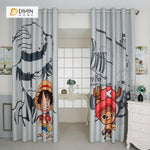 DIHINHOME Home Textile Modern Curtain DIHIN HOME 3D Printed One Piece Luffy Blackout Curtains ,Window Curtains Grommet Curtain For Living Room ,39x102-inch,2 Panels Included