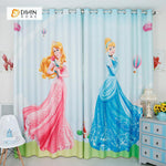 DIHINHOME Home Textile Modern Curtain DIHIN HOME 3D Printed Princess Blackout Curtains ,Window Curtains Grommet Curtain For Living Room ,39x102-inch,2 Panels Included