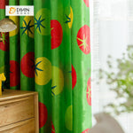 DIHINHOME Home Textile Modern Curtain DIHIN HOME 3D Printed Red and Yellow Tomato Blackout Curtains ,Window Curtains Grommet Curtain For Living Room ,39x102-inch,2 Panels Included