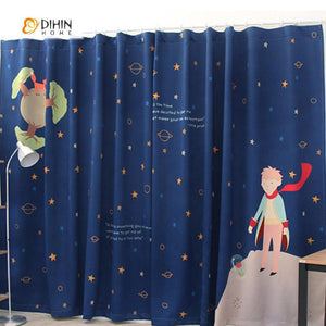 DIHINHOME Home Textile Modern Curtain DIHIN HOME 3D Printed Stars Blackout Curtains ,Window Curtains Grommet Curtain For Living Room ,39x102-inch,2 Panels Included