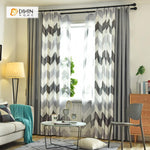 DIHINHOME Home Textile Modern Curtain DIHIN HOME Black Bold Stripes Printed,Blackout Grommet Window Curtain for Living Room ,52x63-inch,1 Panel