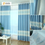 DIHINHOME Home Textile Modern Curtain DIHIN HOME Blue Diamond Shape Printed,Blackout Grommet Window Curtain for Living Room ,52x63-inch,1 Panel