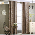 DIHINHOME Home Textile Modern Curtain DIHIN HOME Brown Color Golden Lines Printed,Blackout Grommet Window Curtain for Living Room ,52x63-inch,1 Panel