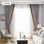 DIHINHOME Home Textile Modern Curtain DIHIN HOME Brown Hexagon Printed,Blackout Grommet Window Curtain for Living Room ,52x63-inch,1 Panel